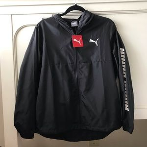 Puma Black Windbreaker NWT